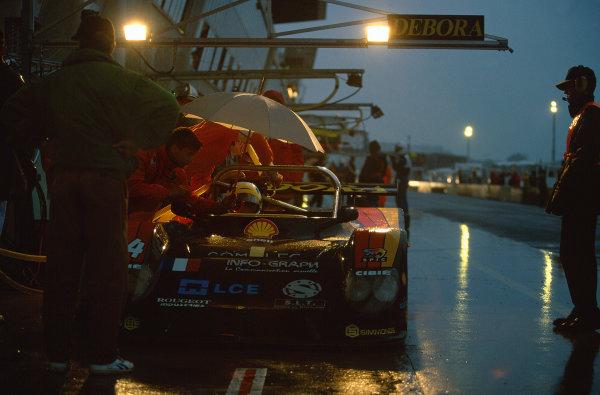 1995 Le Mans 24 Hours. Le Mans, France. 17th - 18th June 1995. Patrice Roussel/Edouard Sezionale/Bernard Santal (Debora LMP295), 20th position, action. World Copyright: LAT Photographic. Ref:  95LM22