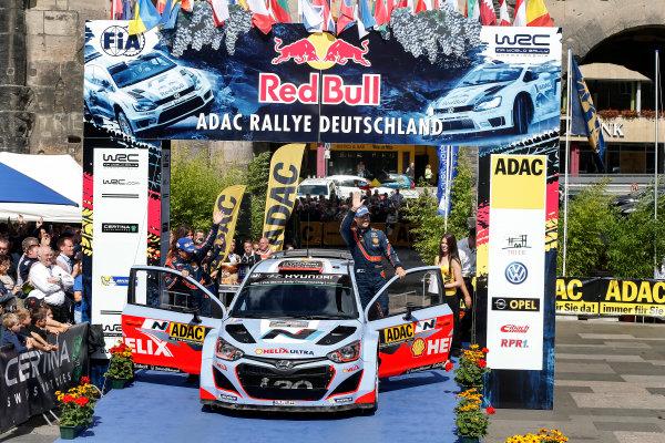 2014 World Rally Championship Rallye Deutschland 21-24 th August 2014 Dani Sordo, Hyundai WRC, Podium Worldwide Copyright: McKlein/LAT
