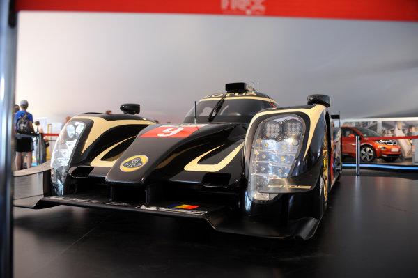 2014 Le Mans 24 Hours. Circuit de la Sarthe, Le Mans, France. Thursday 12 June 2014. Lotus LMP1 car for next season Photo: Sam Bloxham/LAT ref: Digital Image DSC_2547