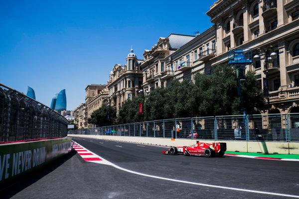 2017 FIA Formula 2 Round 4. Baku City Circuit, Baku, Azerbaijan. Friday 23 June 2017. Charles Leclerc (MCO, PREMA Racing)  Photo: Zak Mauger/FIA Formula 2. ref: Digital Image _54I9563