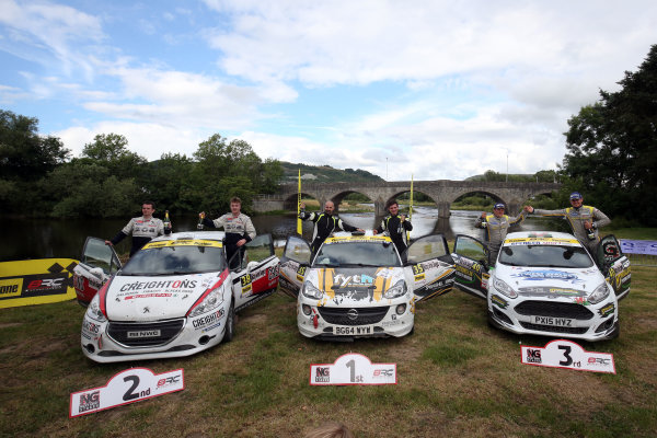 2017 British Rally Championship, Nicky Grist Stages, 8th-9th Juy 2017, Junior Podium  World copyright. JEP/LAT Images