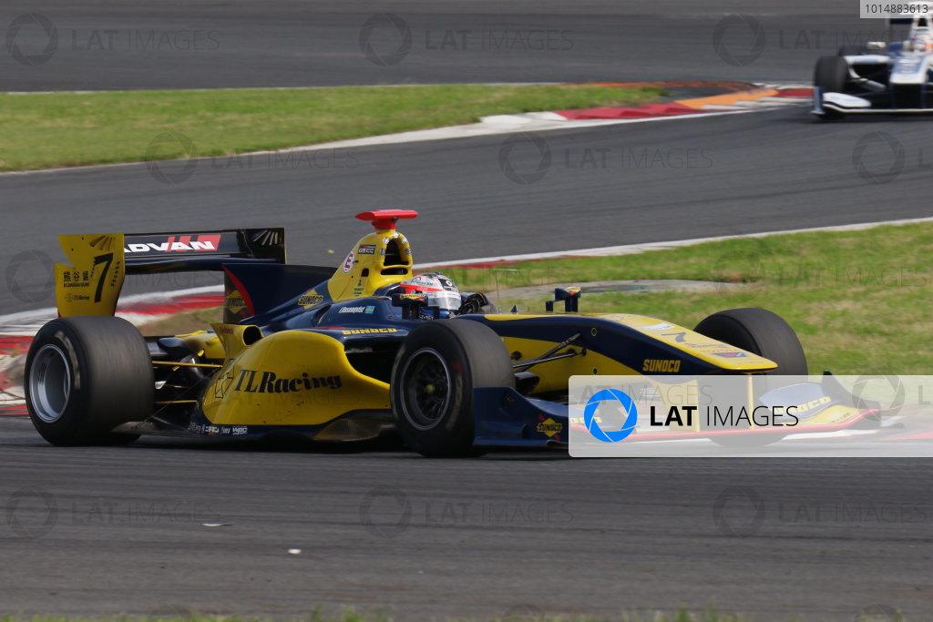 2017 Japanese Super Formula. Fuji, Japan. 8th - 9th July 2017. Rd 3. 2nd position Felix Rosenqvist ( #7 SUNOCO TEAM LEMANS SF14 ) action World Copyright: Yasushi Ishihara / LAT Images. Ref: 2017SF_Rd3_008