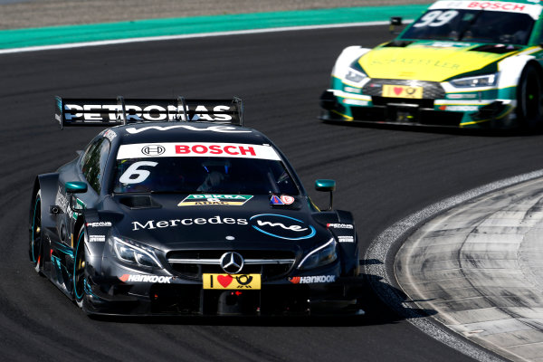 2017 DTM Round 3 Hungaroring, Budapest, Hungary. Sunday 18 June 2017. Robert Wickens, Mercedes-AMG Team HWA, Mercedes-AMG C63 DTM World Copyright: Alexander Trienitz/LAT Images ref: Digital Image 2017-DTM-R3-HUN-AT2-2011