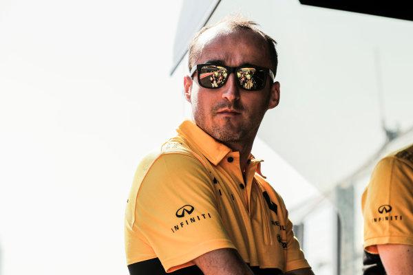 Hungaroring, Budapest, Hungary.  Tuesday 01 August 2017. Robert Kubica, Renault Sport F1. World Copyright: Zak Mauger/LAT Images  ref: Digital Image _54I6024