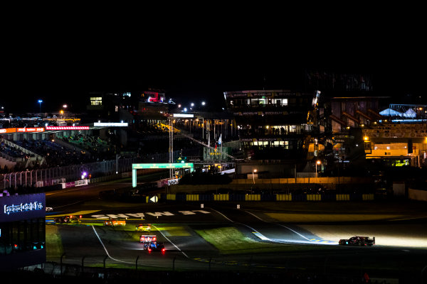 2016 Le Mans 24 Hours. Circuit de la Sarthe, Le Mans, France. Sunday 19 June 2016. A view of the Ford Chicane and start/finish straight during the race. World Copyright: Zak Mauger/LAT Photographic ref: Digital Image _79P8291