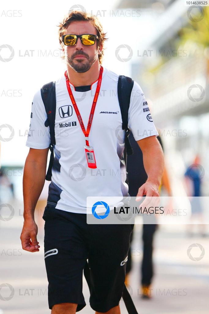 Hungaroring, Budapest, Hungary. Thursday 21 July 2016. Fernando Alonso, McLaren. World Copyright: Andrew Hone/LAT Photographic ref: Digital Image _ONY0365