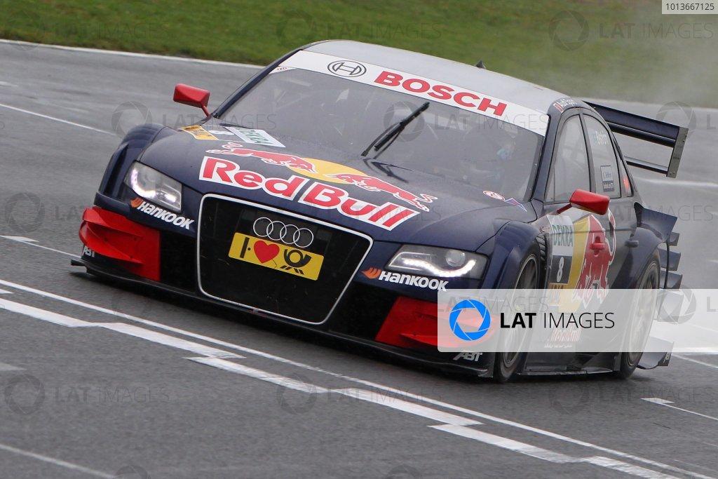 Race winner Mattias Ekstrom (SWE), Audi Sport Team Abt Sportsline, Red Bull Audi A4 DTM (2009).DTM, Rd8, Oschersleben, Germany, 16-18 September 2011 Ref: Digital Image dne1118se522