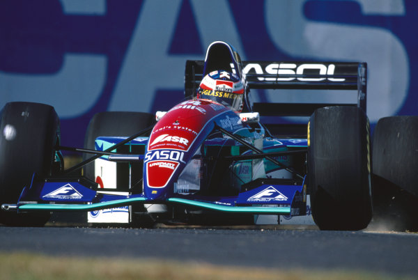 Suzuka, Japan. 4th - 6th November 1994. Rubens Barrichello (Jordan 194-Hart), retired, action. World Copyright: LAT Photographic.Ref: Colour Transparency.