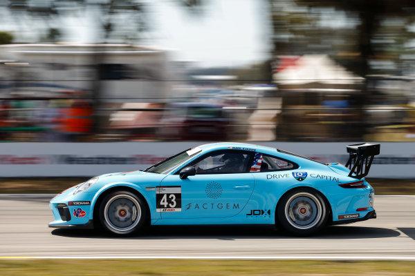 2017 Porsche GT3 Cup USA Sebring International Raceway, Sebring, FL USA Friday 17 March 2017 43, Mark Kvamme, GT3P, USA, M, 2017 Porsche 991 World Copyright: Jake Galstad/LAT Images ref: Digital Image lat-galstad-SIR-0317-14694