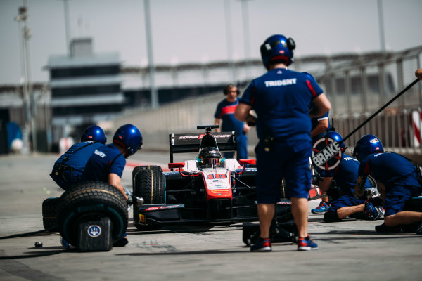 Bahrain International Circuit, Sakhir, Bahrain. Wednesday 29 March 2017 Nabil Jeffri (MAS) Trident  Photo: Malcolm Griffiths/FIA Formpula 2 ref: Digital Image MALC4732 2