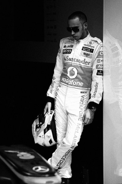 Lewis Hamilton (GBR) McLaren. Formula One World Championship, Rd 7, Canadian Grand Prix, Preparations, Montreal, Canada, Thursday 9 June 2011.  Note: This image has been digitally altered from the original, which is also available on the archive. (d11cdn248.jpg).