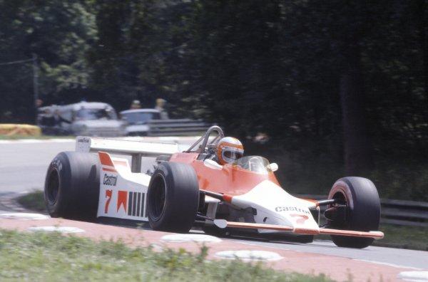 1980 British Grand Prix.Brands Hatch, Great Britain. 11-13 July 1980.John Watson (McLaren M29C-Ford Cosworth), 8th position.World Copyright: LAT PhotographicRef: 35mm transparency 80GB28