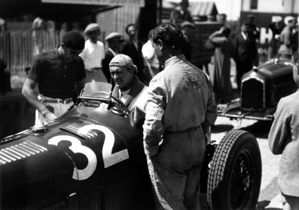 "1935 Dieppe Grand Prix Dieppe, France. 21 July 1935 Louis Chiron, Alfa Romeo Tipo-B ""P3"", 2nd position, portrait World Copyright: Robert Fellowes/LAT PhotographicRef: 35DIE05"