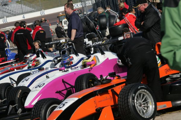 2007 British Formula Three Championship.Rockingham, England 29th and 30th September 2007.F3 carsWorld Copyright: Jakob Ebrey/LAT