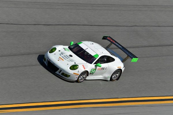 13-14 December 2016,  Daytona Beach, Florida USA 54, Porsche, Porsche 911 GT3 R, GTD, Jonathan Bennett, Colin Braun ?2016, Richard Dole LAT Photo USA