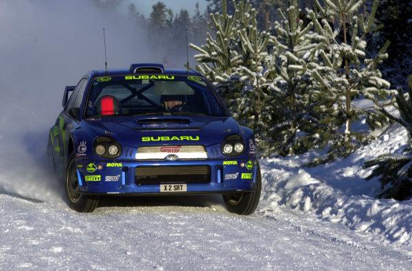2001 World Rally Championship.   Swedish Rally. 9th - 11th February 2001. Rd 2. Richard Burns on stage one. World Copyright: Ralph Hardwick/ LAT Photographic. Ref: Burns3