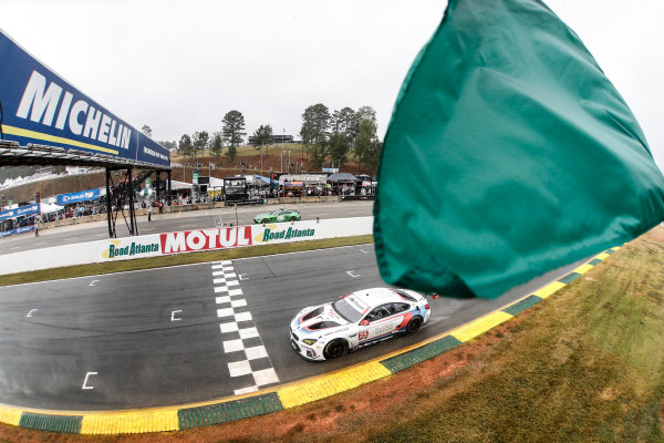 IMSA WeatherTech SportsCar Championship Motul Petit Le Mans Road Atlanta, Braselton GA Saturday 7 October 2017 25, BMW, BMW M6, GTLM, Bill Auberlen, Alexander Sims, Kuno Wittmer, start World Copyright: Michael L. Levitt LAT Images