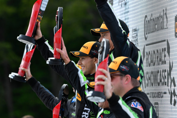 IMSA WeatherTech SportsCar Championship Continental Tire Road Race Showcase Road America, Elkhart Lake, WI USA Sunday 6 August 2017 22, Nissan DPi, P, Johannes van Overbeek, Luis Felipe Derani World Copyright: Richard Dole LAT Images ref: Digital Image RD_RA_2017_153