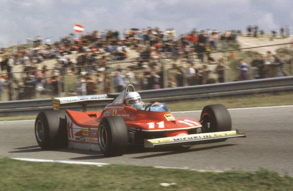 Zandvoort, Holland.24-26 August 1979.Jody Scheckter (Ferrari 312T4) 2nd position.Ref-35mm 79 HOL 09.World Copyright - LAT Photographic.