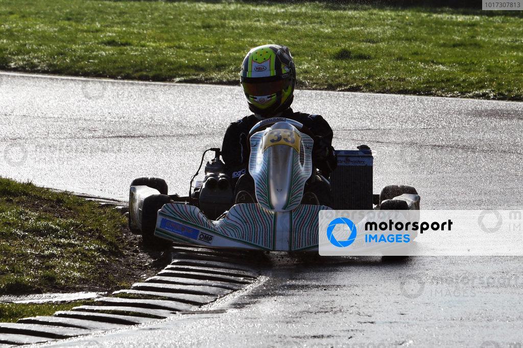 Lando Norris tests a Kart