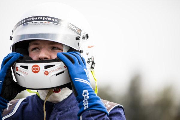 Sebastian Job (GBR) prepares to drive in the eROC Skills Challenge