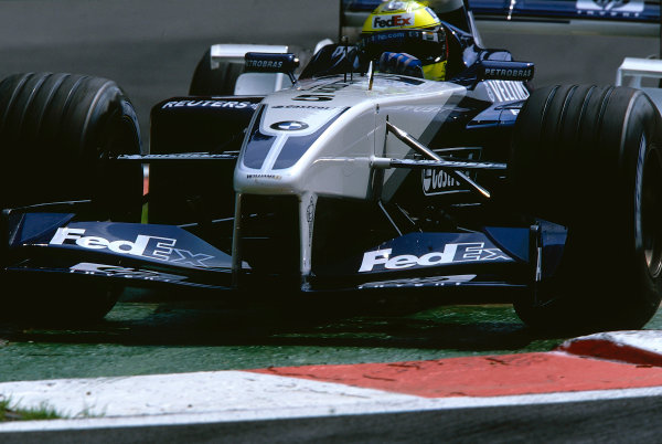2002 Belgian Grand Prix.Spa-Francorchamps, Belgium. 30/8-1/9 2002.Ralf Schumacher (Williams FW24 BMW) 5th position.Ref-02 BEL 16.World Copyright - Coates/LAT Photographic