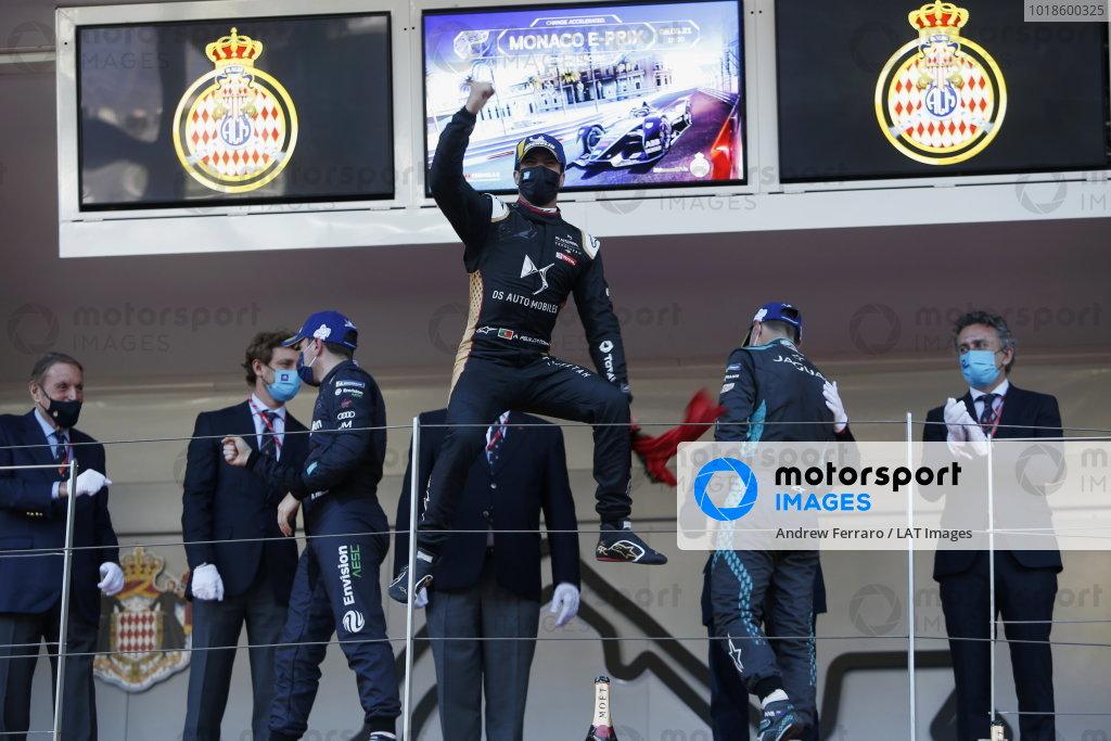 Antonio Felix da Costa (PRT), DS Techeetah, 1st position, celebrates on the podium