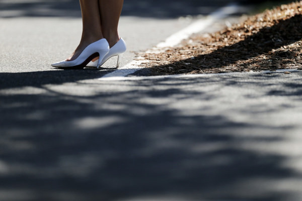 Rolex girls shoes at Formula One World Championship, Rd1, Australian Grand Prix, Race, Albert Park, Melbourne, Australia, Sunday 20 March 2016.