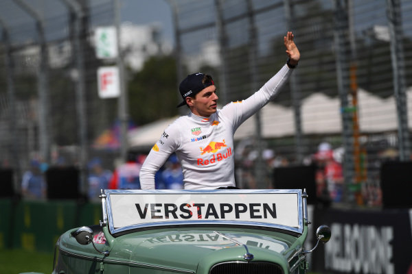 Max Verstappen (NED) Red Bull Racing on the drivers parade at Formula One World Championship, Rd1, Australian Grand Prix, Race, Albert Park, Melbourne, Australia, Sunday 26 March 2017.