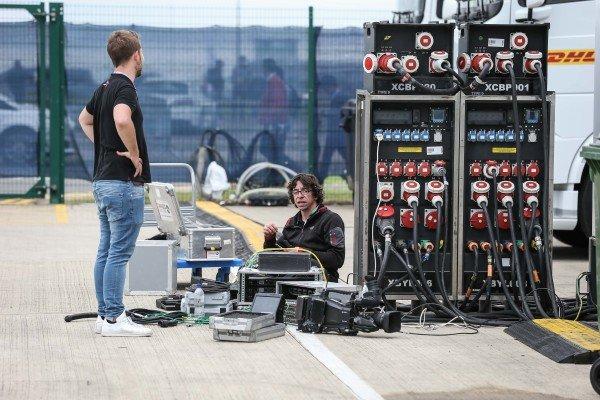 Generator power distribution at Formula One World Championship, Rd10, British Grand Prix, Race, Silverstone, England, Sunday 16 July 2017.