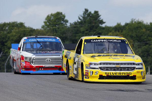 #2: Cody Coughlin, GMS Racing, Chevrolet Silverado JEGS.com and #16: Brett Moffitt, Hattori Racing Enterprises, Toyota Tundra Don Valley North Toyota