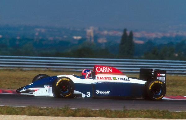 1993 Hungarian Grand Prix.Hungaroring, Budapest, Hungary.13-15 August 1993.Ukyo Katayama (Tyrrell 021 Yamaha) 10th positionRef-93 HUN 10.World Copyright - LAT Photographic