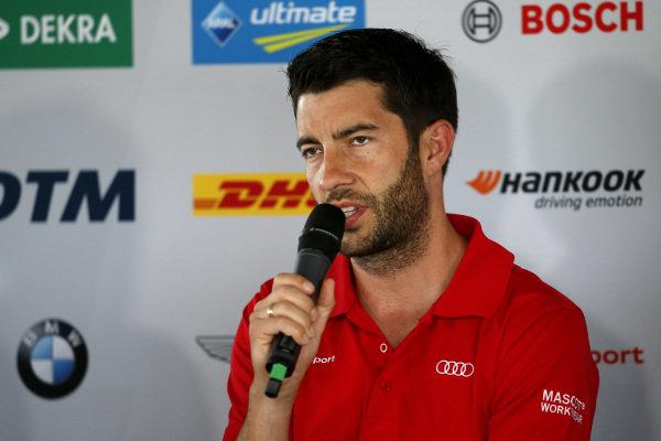 Press Conference, Mike Rockenfeller, Audi Sport Team Phoenix.