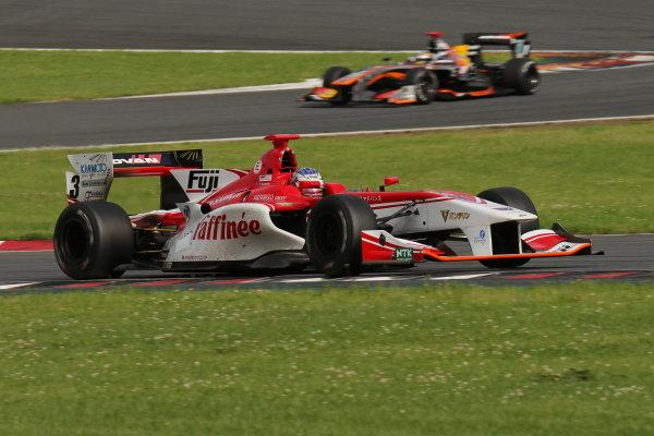 Winner Nick Cassidy, number three ORIENTALBIO KONDO SF14 Toyota.
