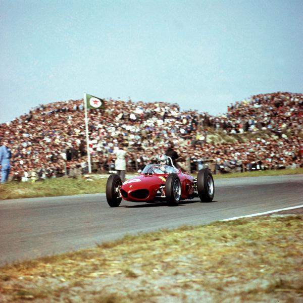 1961 Dutch Grand Prix.Zandvoort, Holland. 20-22 May 1961.Wolfgang Von Trips (Ferrari 156) 1st position. Ref-478.World Copyright - LAT Photographic