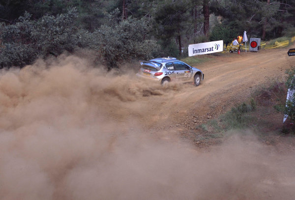 World Rally ChampionshipCyprus Rally, Cyprus. 18th - 21st April 2002. Harri Rovanpera / Risto Pietilainen, Peugeot 206 WRC, 4th position overall. World Copyright: McKlein/LAT Photographicref: 35mm Image A04