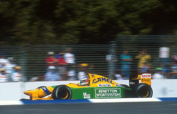 1992 Australian Grand Prix.Adelaide, Australia.6-8 November 1992.Michael Schumacher (Benetton B192 Ford) 2nd position.Ref-92 AUS 12.World Copyright - LAT Photographic