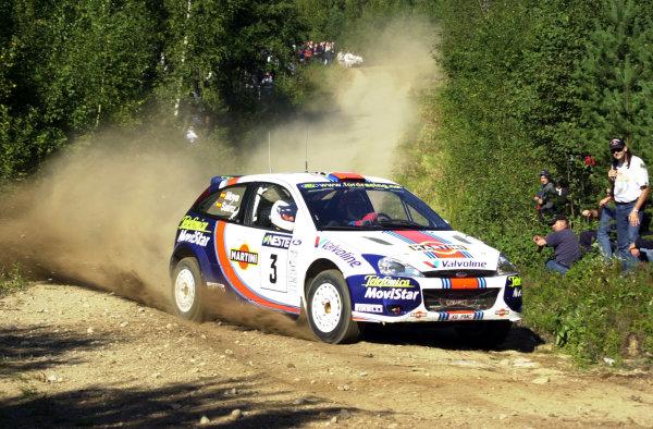 2001 World Rally Championship.Neste Rally Finland. Jyvaskyla, August 24-26, 2001.Carlos Sainz on stage 14.Photo: Ralph Hardwick/LAT