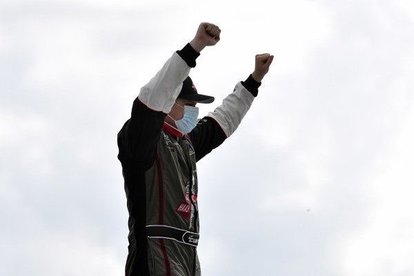 #41: Cole Custer, Stewart-Haas Racing, Ford Mustang HaasTooling.com celebrates his win
