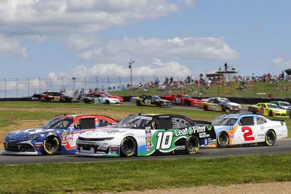 #10: A J Allmendinger, Kaulig Racing, Chevrolet Camaro LeafFilter Gutter Protection and #18: Jack Hawksworth, Joe Gibbs Racing, Toyota Supra iK9
