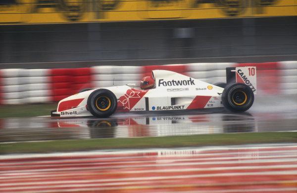 1991 San Marino Grand Prix.Imola, Italy.26-28 April 1991.Alex Caffi (Footwork FA12 Porsche). He failed to qualify.Ref-91 SM 32.World Copyright - LAT Photographic