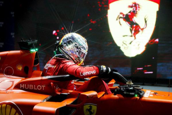 Race winner Sebastian Vettel, Ferrari SF90 in Parc Ferme