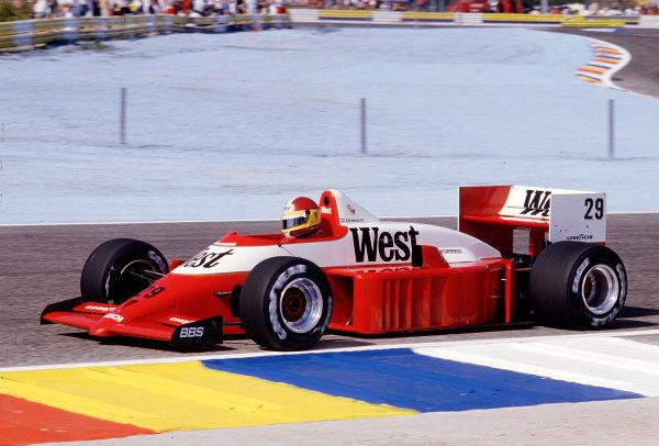 1986 French Grand Prix. Paul Ricard, Le Castellet, France. 4-6 July 1986. Huub Rothengatter (Zakspeed 861). Ref-86 FRA 40. World Copyright - LAT Photographic