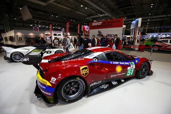 Autosport International Exhibition. National Exhibition Centre, Birmingham, UK. Sunday 14th January 2018. A Ferrari 488 GTE car on the Ferrari stand.World Copyright: Mike Hoyer/JEP/LAT Images Ref: AQ2Y0162