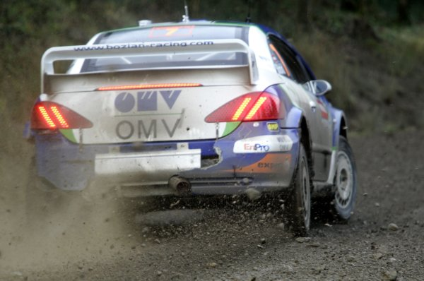 2006 World Rally Championship.Round 16. Wales Rally GB. 1st - 3rd December 2006.Manfred Stohl/Ilka Minor, Peugeot 307 WRC. Action.World Copyright: Alastair Staley/LAT Photographic.ref: Digital Image _F6E7140