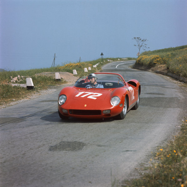 Little Madonie Circuit, Sicily, Italy. 5th May 1963 Ludovico Scarfiotti/Willy Mairesse (Ferrari 250 P), retired, action World Copyright: LAT Photographic Ref: 901