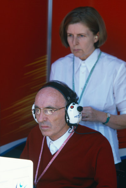 Montreal, Quebec, Canada. 11th - 13th June 1999 Frank Williams watches the race with his wife, Virgina in the pits, portrait.  World Copyright: LAT Photographic. Ref:  99CAN29