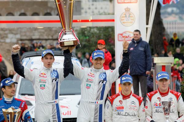 2014 World Rally Championship Monte Carlo Rally 13th - 19th January 2014 Sebastien Ogier, VW, podium Worldwide Copyright: McKlein/LAT