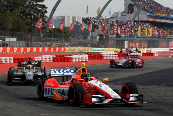 4-5 May, 2013, Sao Paulo, Brazil EJ Viso leads Oriol Servia and Marco Andretti ©2013, Phillip Abbott LAT Photo USA