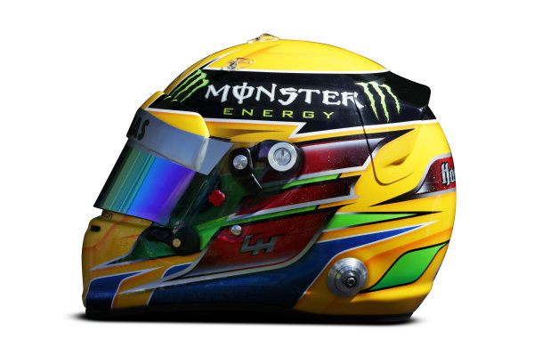 Albert Park, Melboune 14th March 2013 The helmet of Lewis Hamilton, Mercedes AMG. World Copyright: LAT Photographic ref: Digital Image DKAL8836